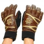Winter leather glove Empire New York Brown/Black