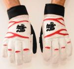 Winter glove New York white/red